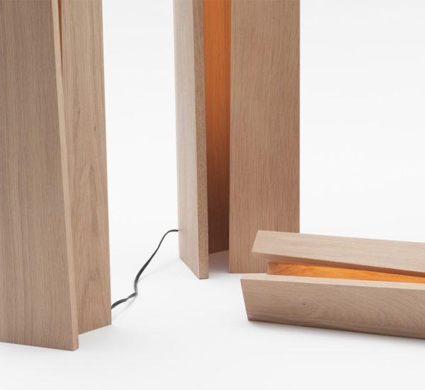 lampe électrique haut de gamme en bois massif design moderne contemporain naturel