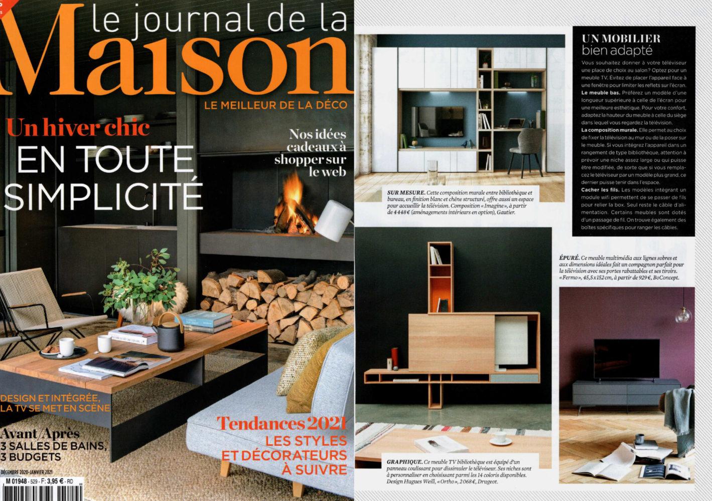parution presse Le Journal de la Maison idée décoration intérieure hiver