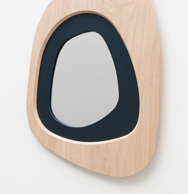 miroir de salle de bain lumière naturelle miroir original bois massif chêne