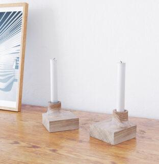 petit bougeoir en bois massif décoration intérieure minimaliste
