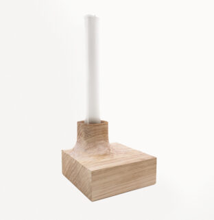 bougeoir en bois original géométrique éva
