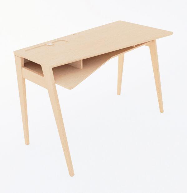 bureau télétravail design bois chêne zoé