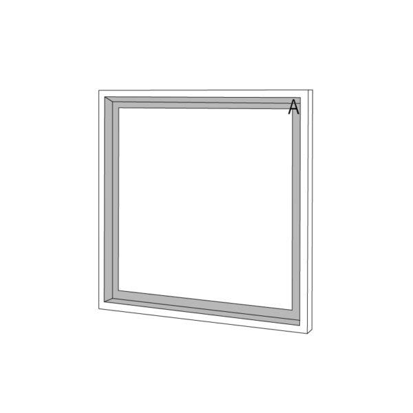 filaire sketchup petit miroir carré personnalisable Float Drugeot