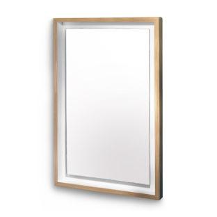 float miroir rectangulaire chêne blanc coton miroir rectangle design en bois massif style minimaliste épuré intérieur scandinave