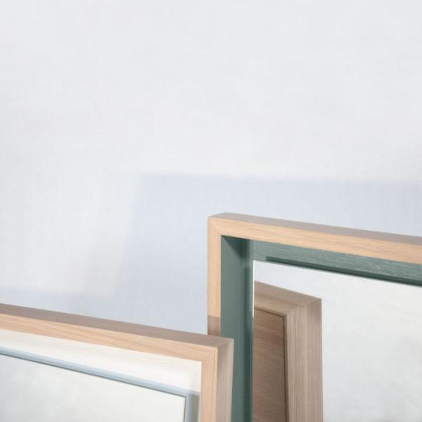 miroir bois chêne massif personnalisable float