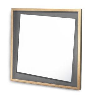 miroir décalé original gris de fumée