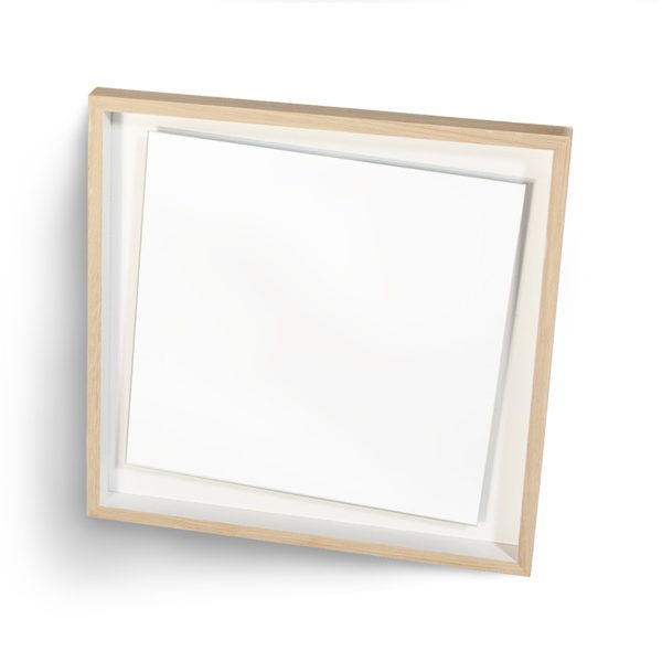 miroir design blanc float décalé