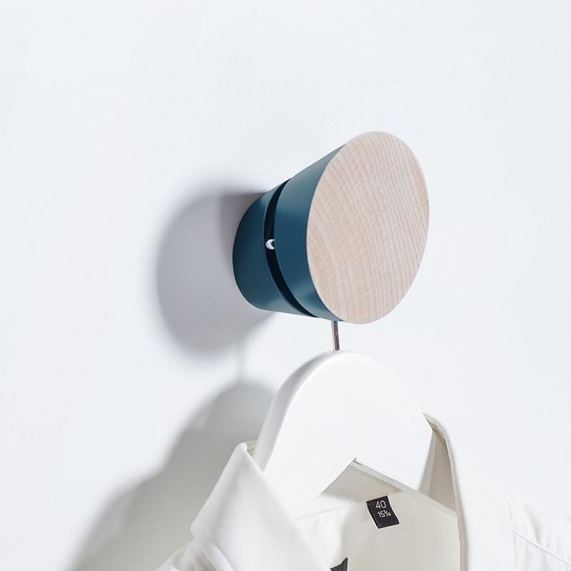 patère murale trompe-oeil tronquée bleu lectoure