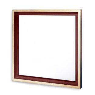 petit miroir carré en bois chêne massif design Float