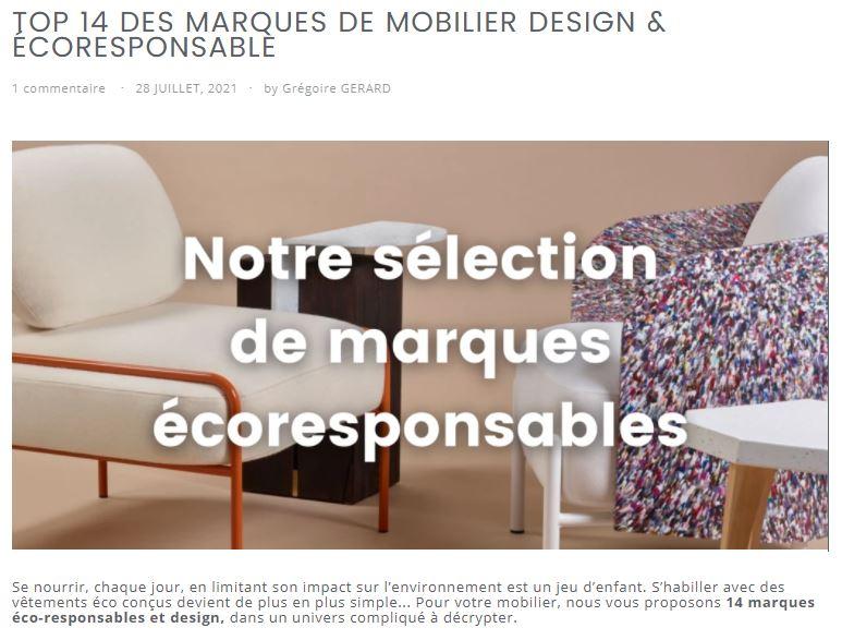 top 14 des sélections de marques écoresponsables françaises Drugeot Manufacture